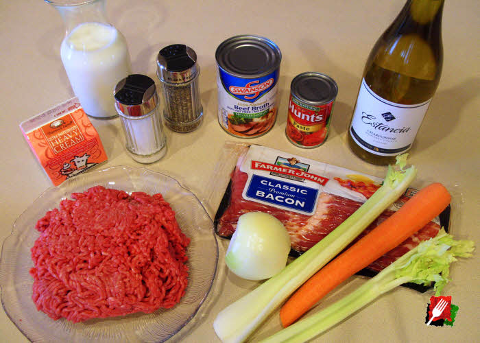 Authentic Bolognese Ingredients