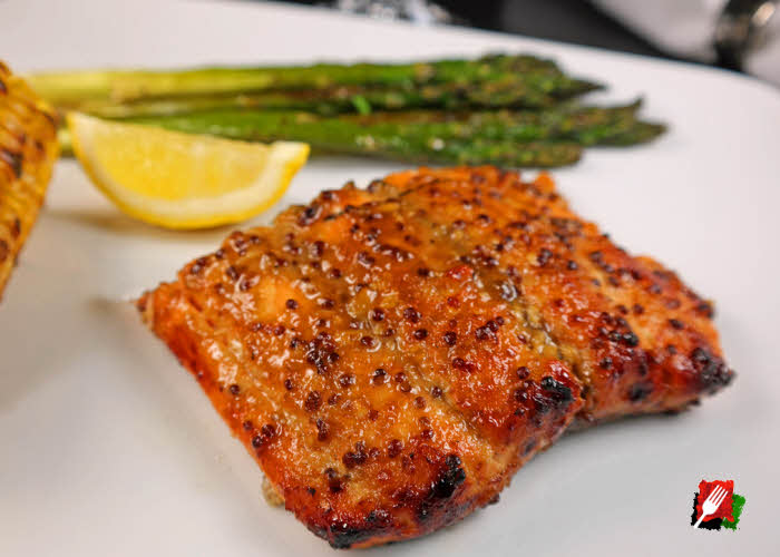 Grilled Honey Mustard Salmon