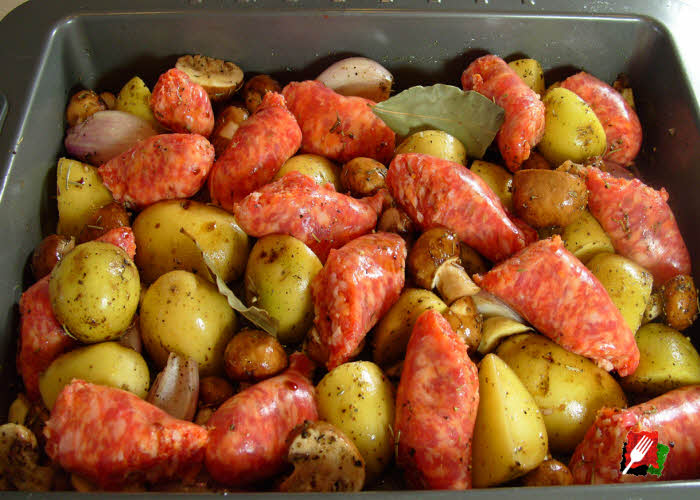 Italian Sausage & Potatoes