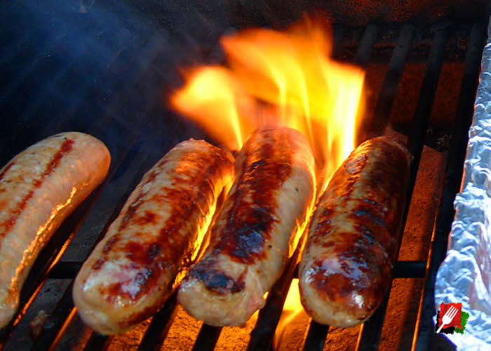 Grilling the Italian Sausage