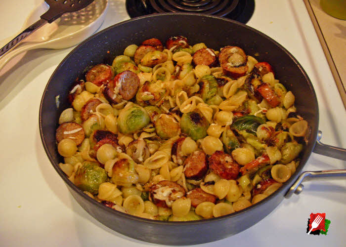 Orecchiette with Sausage and Brussels Sprouts