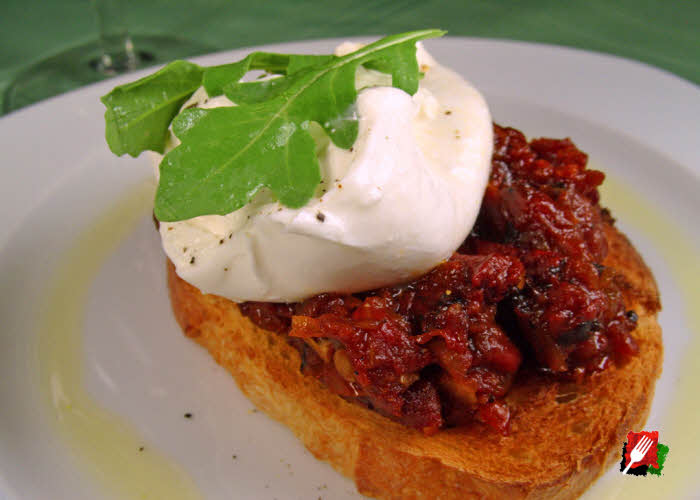 Roasted Tomato Jam on Bread