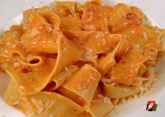 Pasta with Authentic Smoky Vodka Sauce