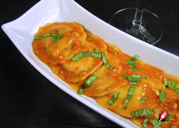Ravioli with Vodka Sauce