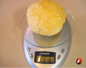 The initial pasta dough ball should weigh about 1 pound