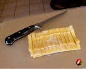 Freshly cut pasta