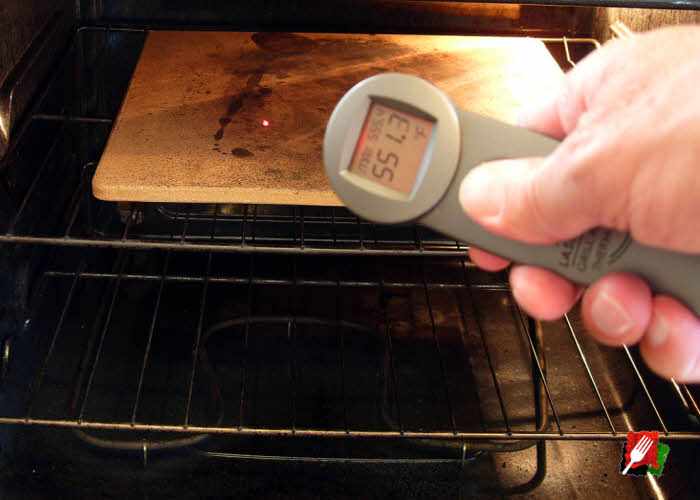 Use An Infrared Thermometer To Check Pizza Stone E Surface Temperature
