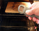 If Available, Use an Infrared Thermometer to Check Pizza Stone'e Surface Temperature