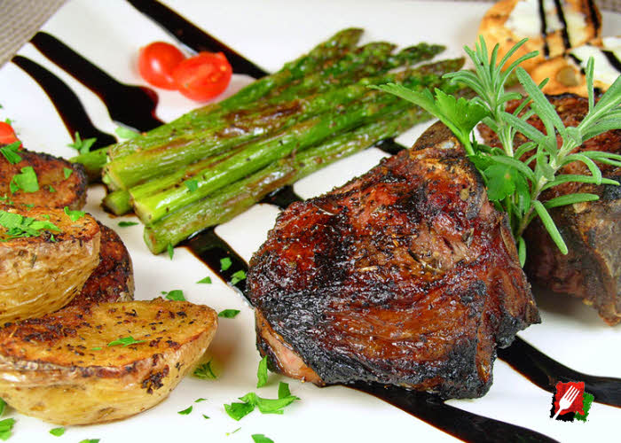 Asparagus with Lamb Chops