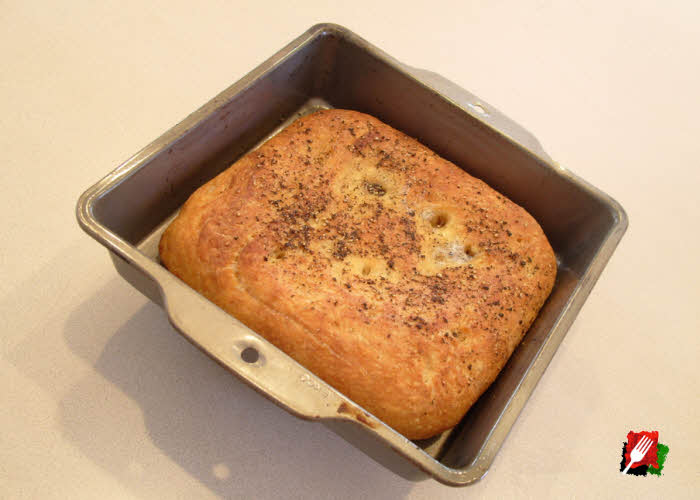 Focaccia Fresh Out of Oven