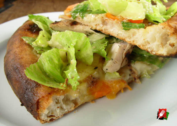 Chicken Caesar Pizza Slice