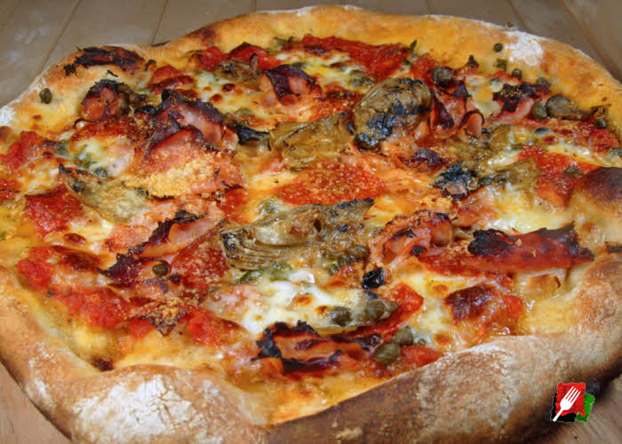Capricciosa Pizza with Capers