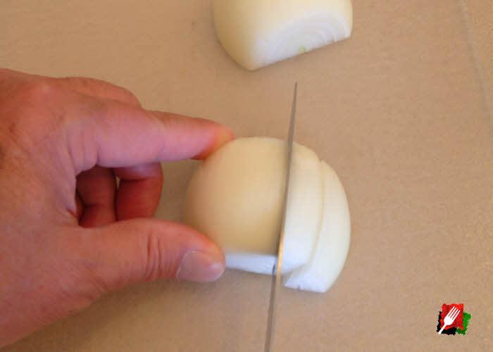 Make 3/8 cuts across grain