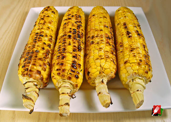 Grilled Corn Ready to Butter and Serve