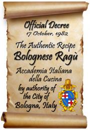 Official Authentic Bolognese Decree