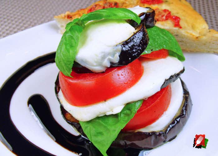 Caprese Salad with Eggplant