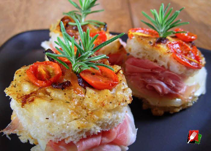 Gourmet Focaccia Bread Sliders