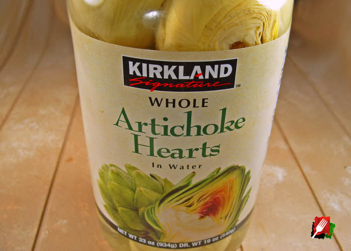 Jar of Artichoke Hearts in Water