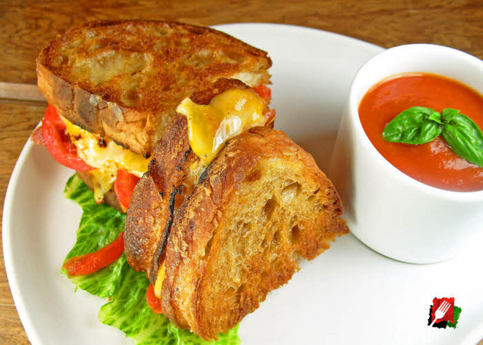 Gourmet Grilled Cheese with Tomato Soup