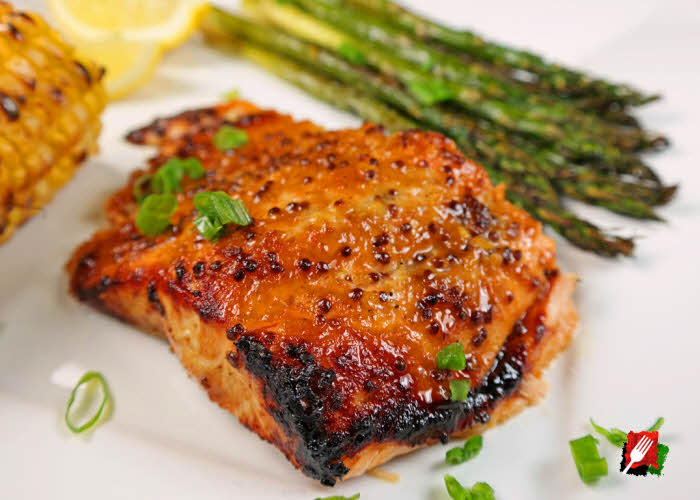 Gourmet Grilled Honey Mustard Salmon Recipe