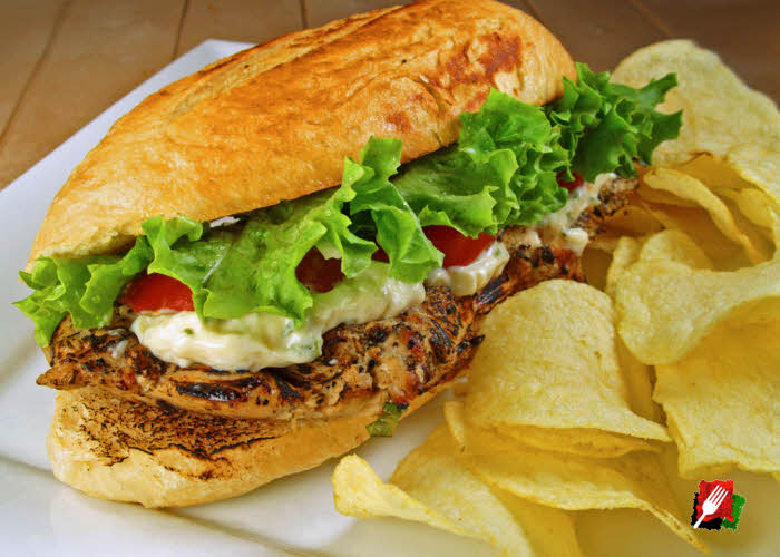 Grilled Lemon Chicken Sandwich