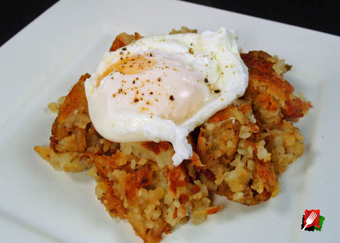 Plated Hash Browns with Egg
