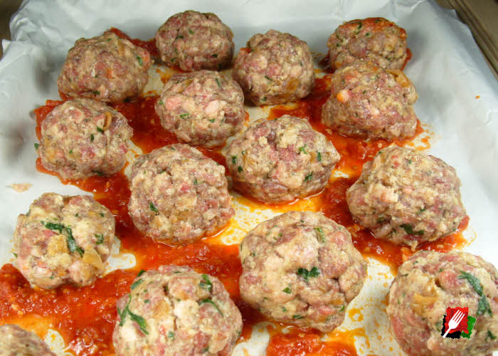 Meatballs Ready for Oven