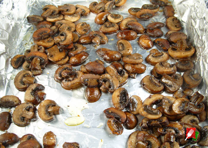 Grilled Baby Bella Mushrooms in Pan