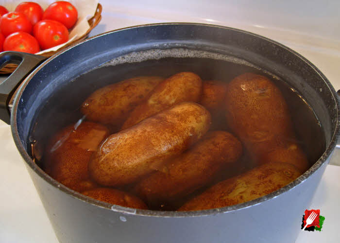 how to cook russet potatoes in a pan