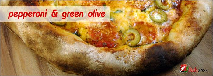 Pepperoni Green Olives Pizza Italymax Gourmet Italian
