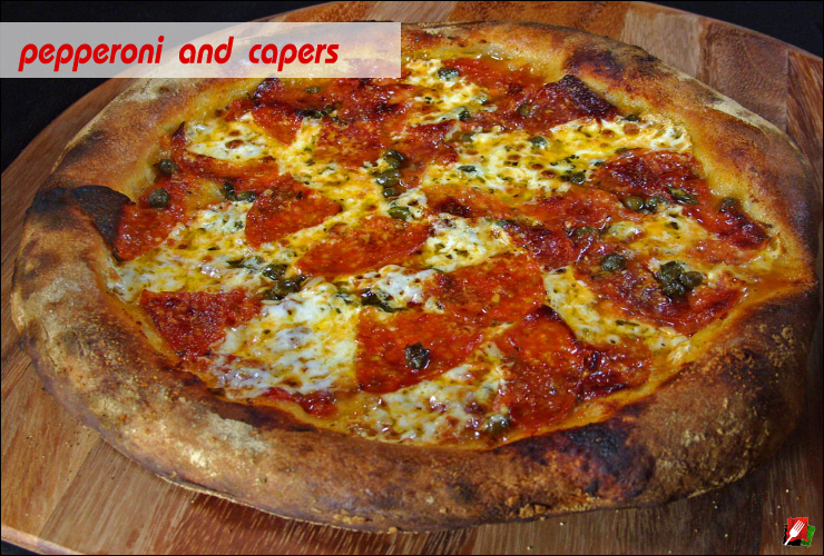 Pepperoni and Capers Pizza