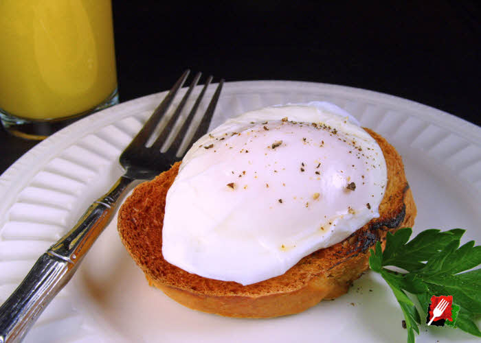 Poached Eggs Over Toast or English Muffin