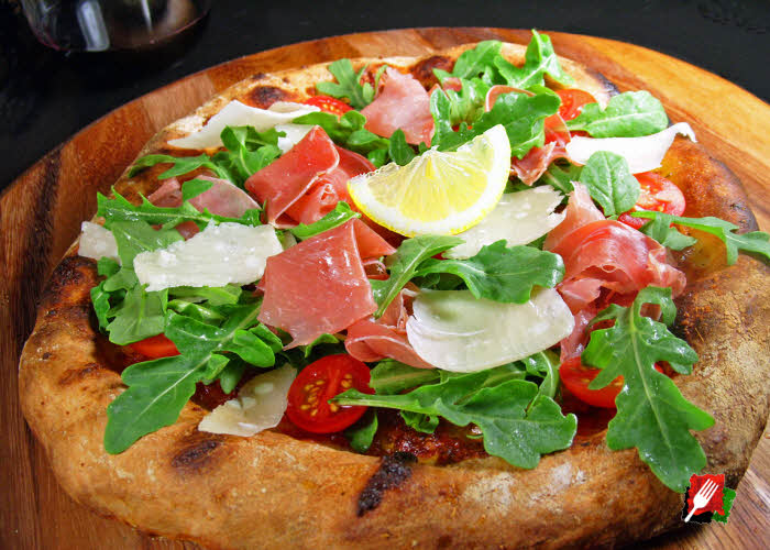 Prosciutto Arugula Pizza