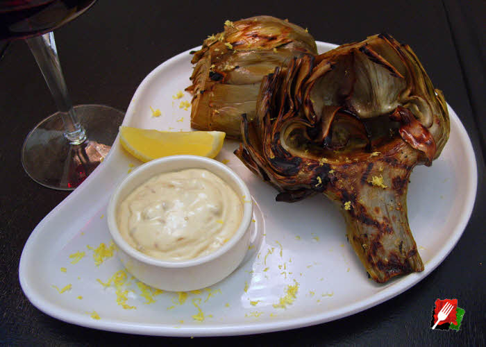 Remoulade with Grilled Artichoke