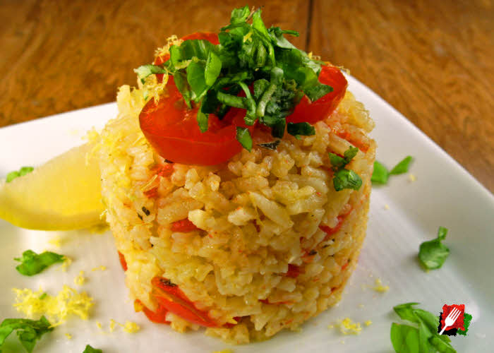 Rice Pilaf with Cherry Tomatoes