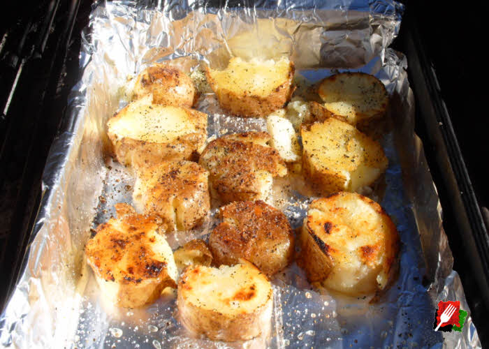 Grilling Smashed Potatoes