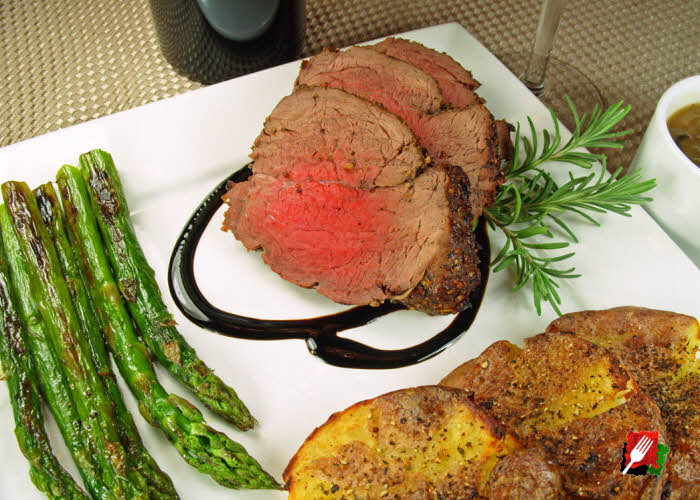 Grilled Asparagus with Tenderloin