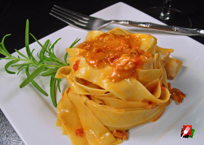 Pappardelle with Fumo Vodka Sauce