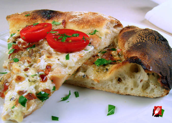 White Clam Pizza Slices