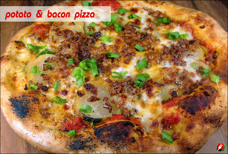 Potato Bacon Pizza