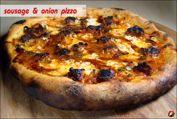 Sausage and Caramelized Onion Pizza