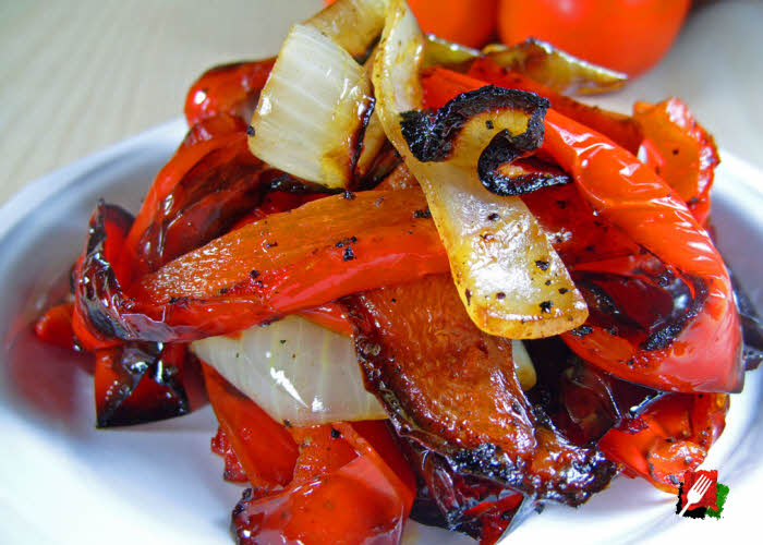 Grilled Red Bell Peppers